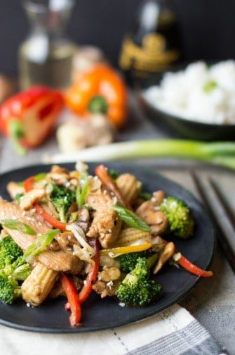cashew chicken stir fry | superman cooks