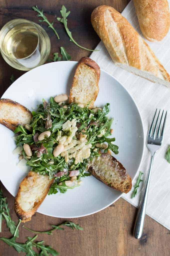 Arugula, White Bean & Prosciutto Salad | superman cooks