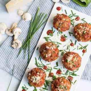 pizza stuffed mushrooms | superman cooks