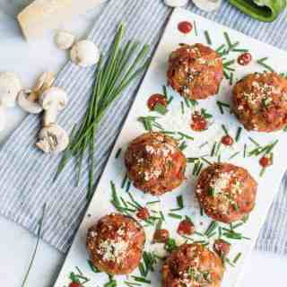 pizza stuffed mushrooms | superman cooks