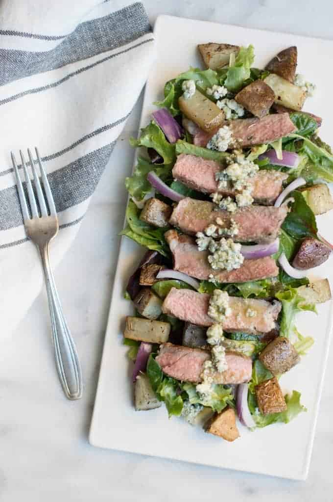 Pittsburgher Steak Salad | superman cooks