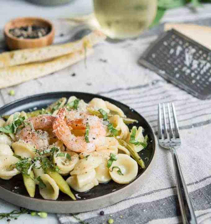 Shrimp Orecchiette With White Wine & Lemon Butter | superman cooks