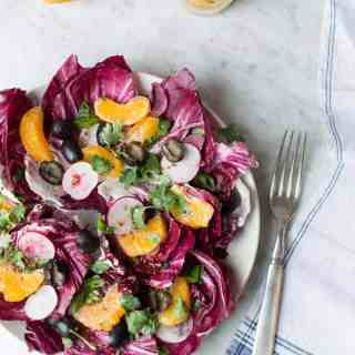 mediterranean radicchio salad with citrus vinaigrette | superman cooks
