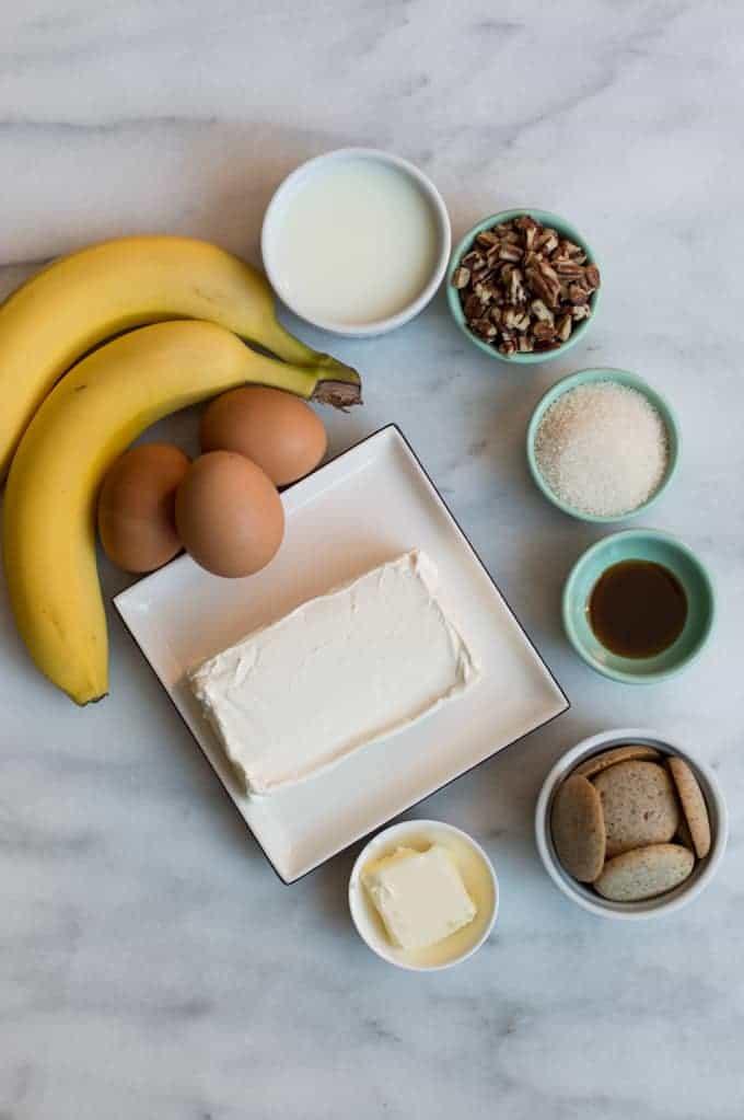 salted caramel & banana cheesecake | superman cooks