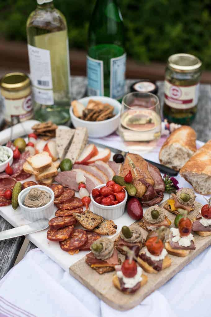two summer canapés + a charcuterie board | superman cooks