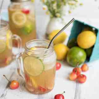 all-natural sparkling cherry lemon-limeade | superman cooks