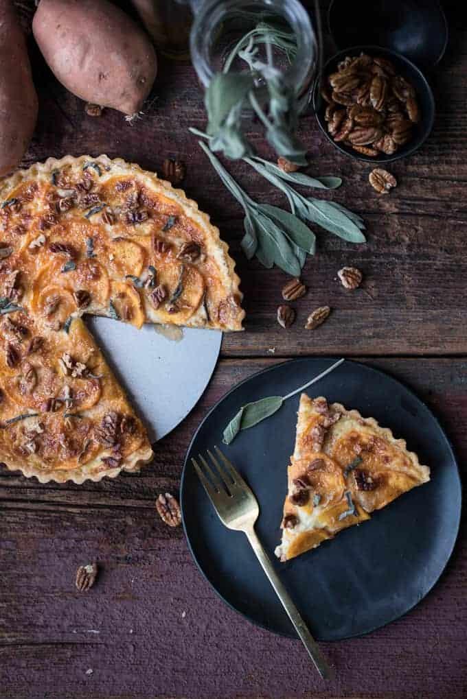 sweet potato tart | superman cooks