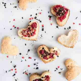 Valentine Coconut Pudding Pastries