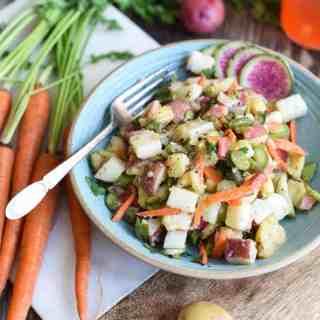 pickled veggie potato salad | superman cooks