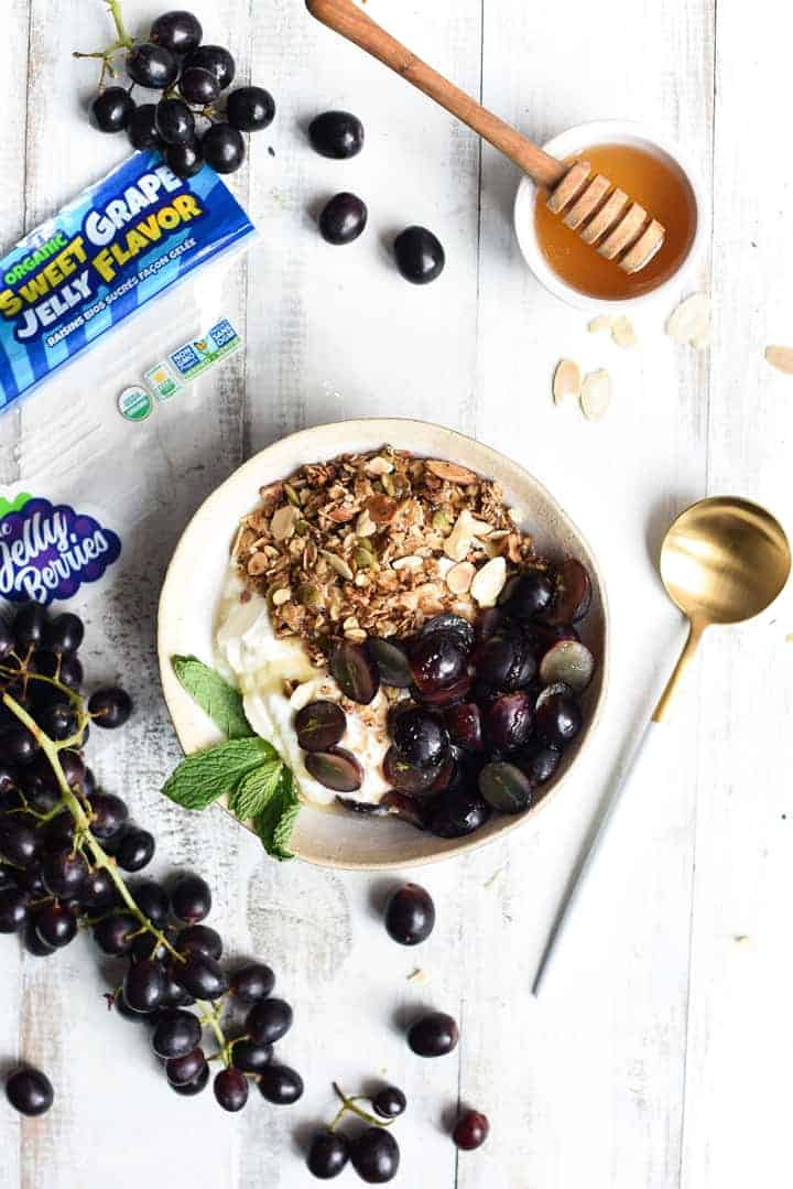 grape granola bowl | superman cooks