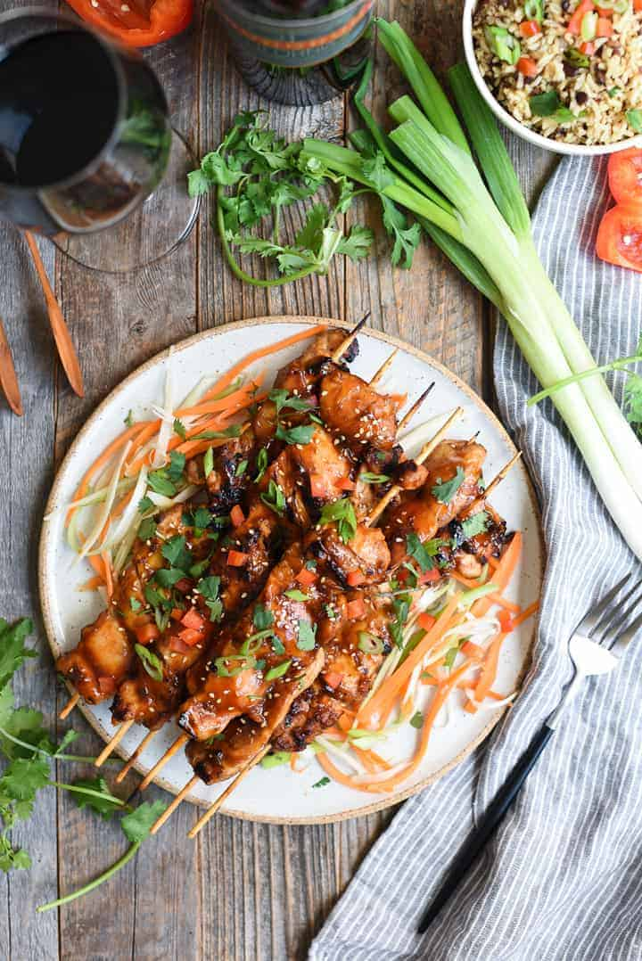 Asian BBQ chicken skewers | superman cook