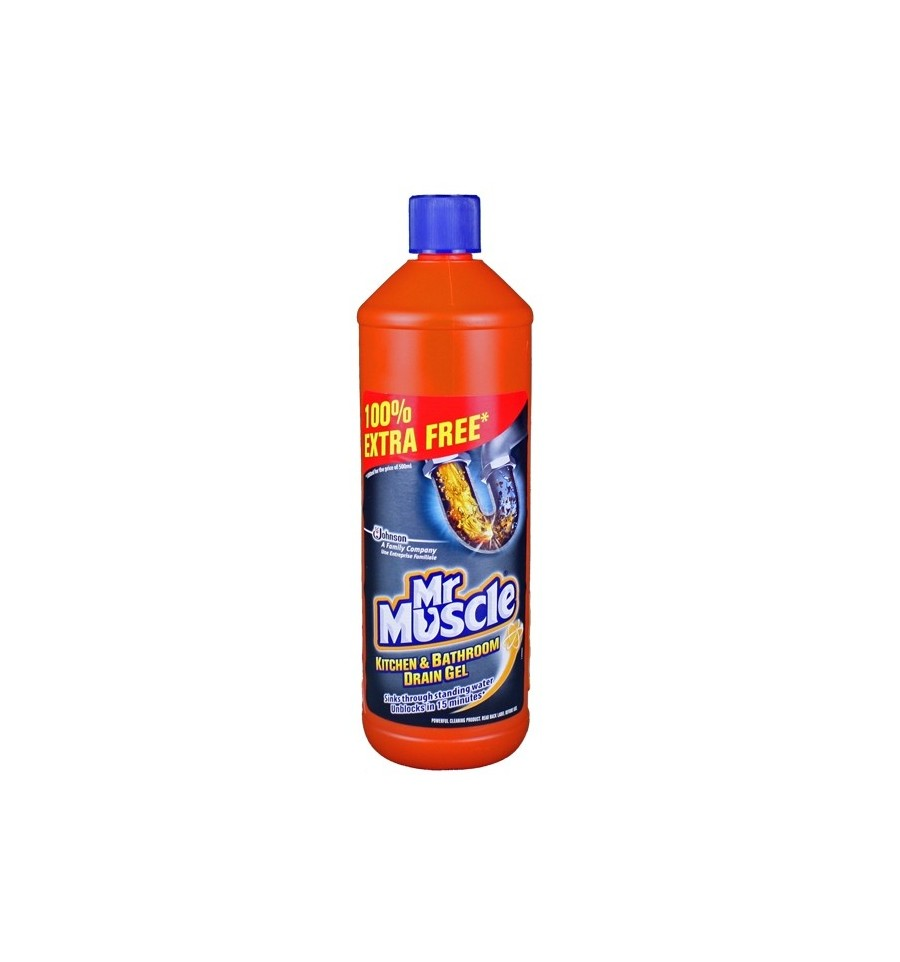 kitchen drain cleaner nyc soup kitchens mr. muscle liquid gel sink & 1l - supermart.ae