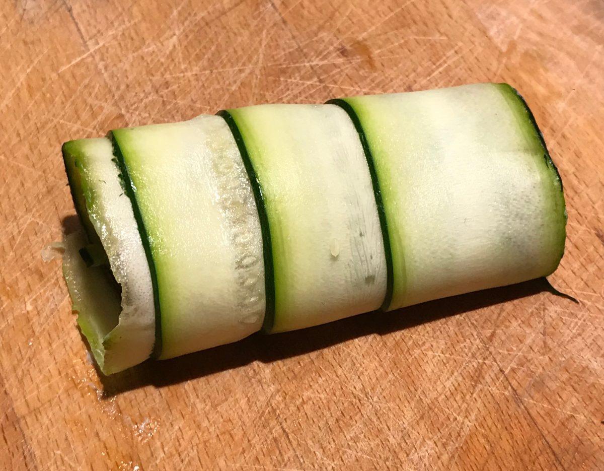 Zucchini-Cannelloni: fertig gerollt