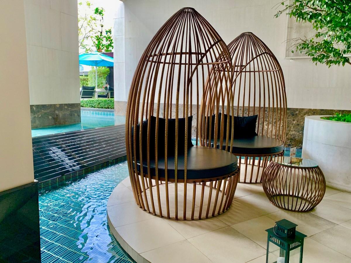 Weltreise: Bangkok Hotel Sofitel Sukhumvit-Poolarea