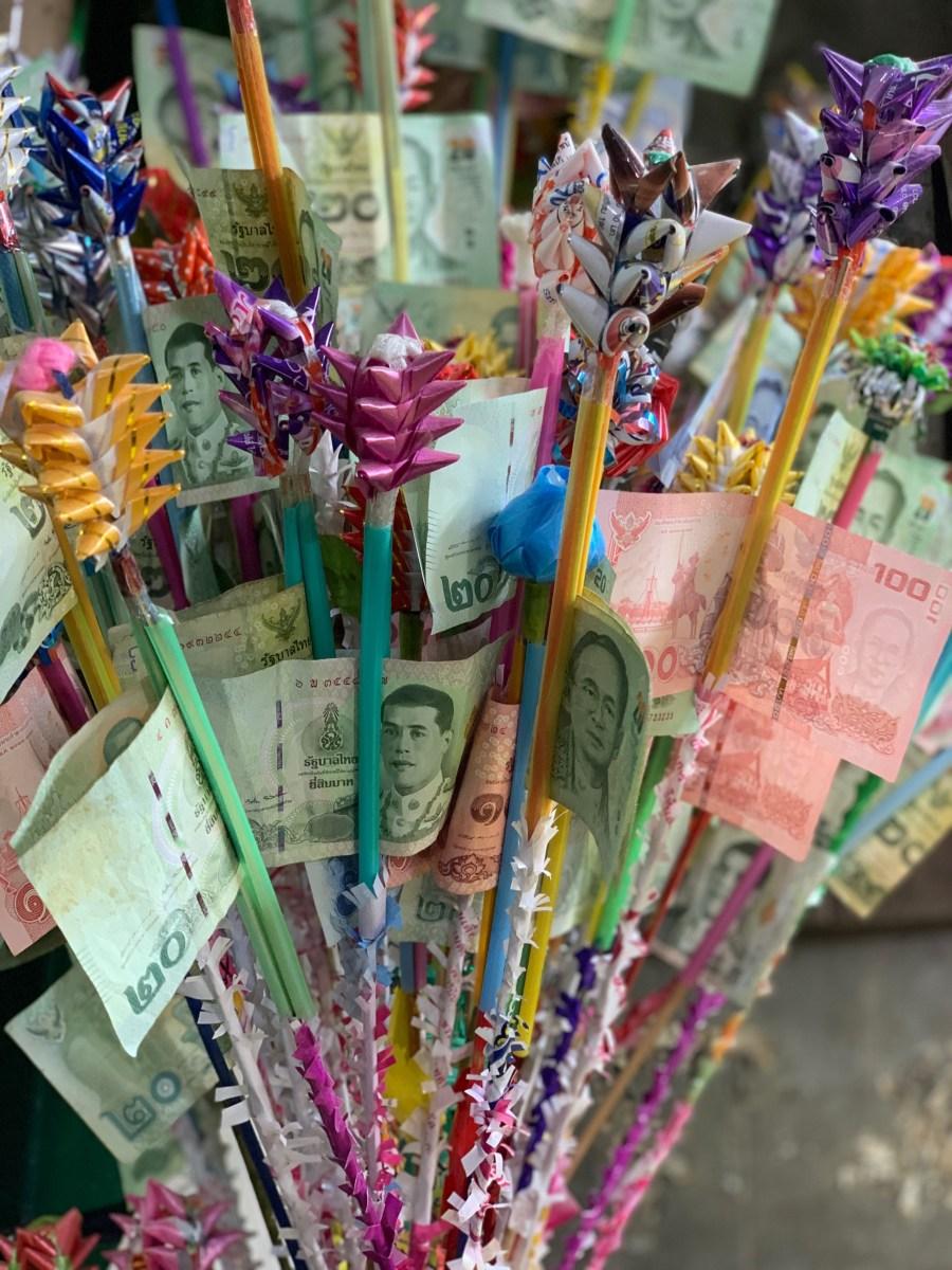 Weltreise: Bangkok Blumenmarkt Geldblumen