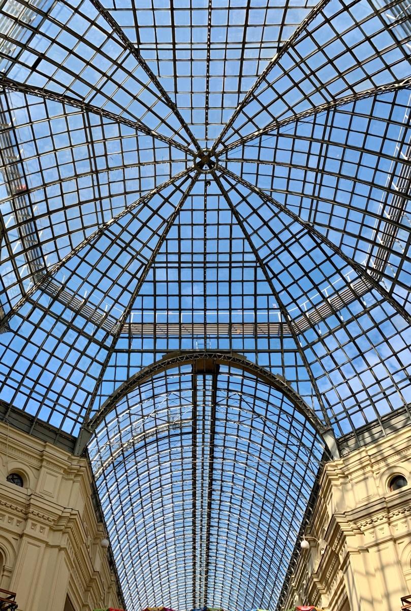 Moskau Kaufhaus GUM Dach