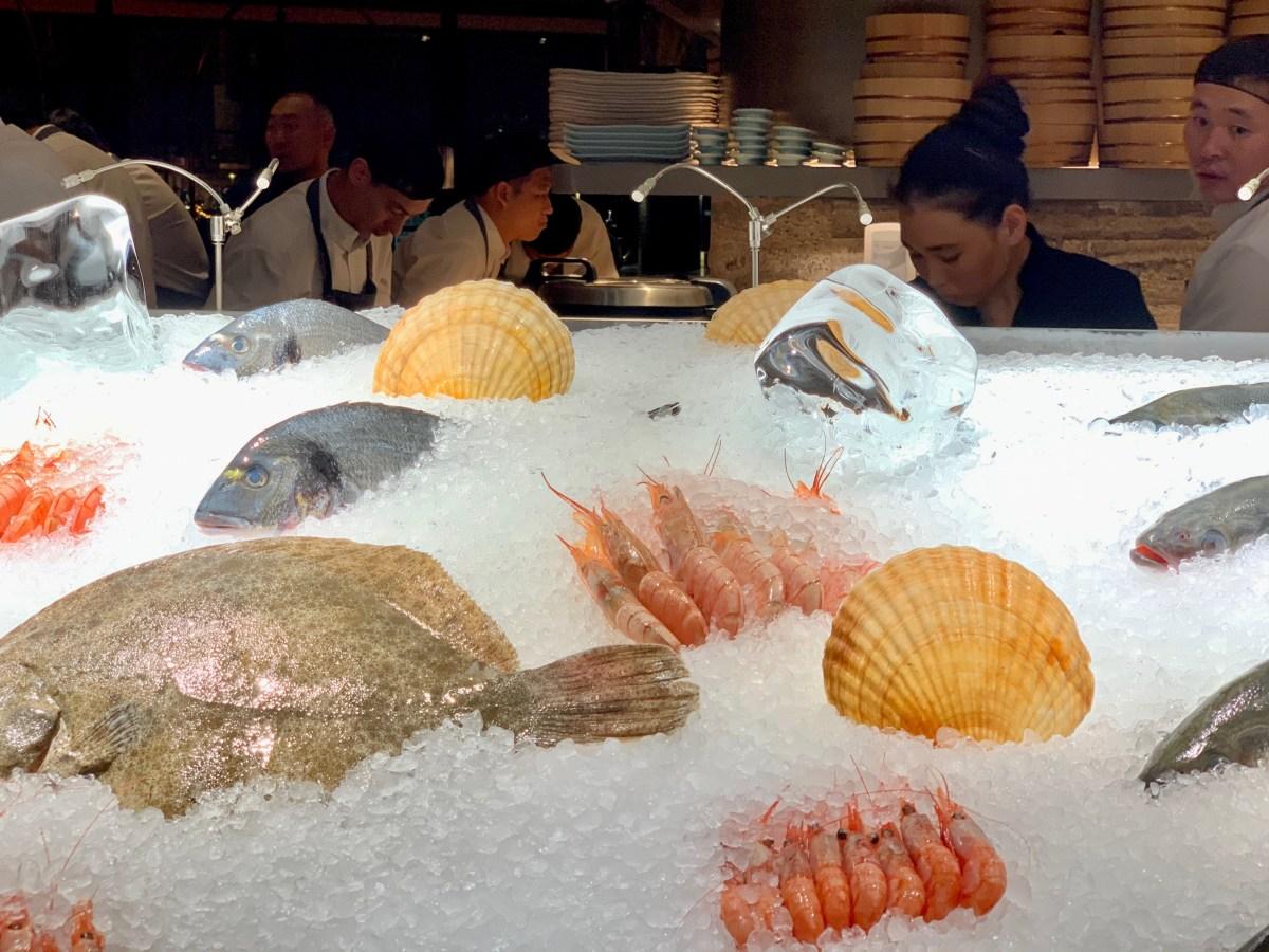 Moskau Restaurant Sakhalin Fischtheke