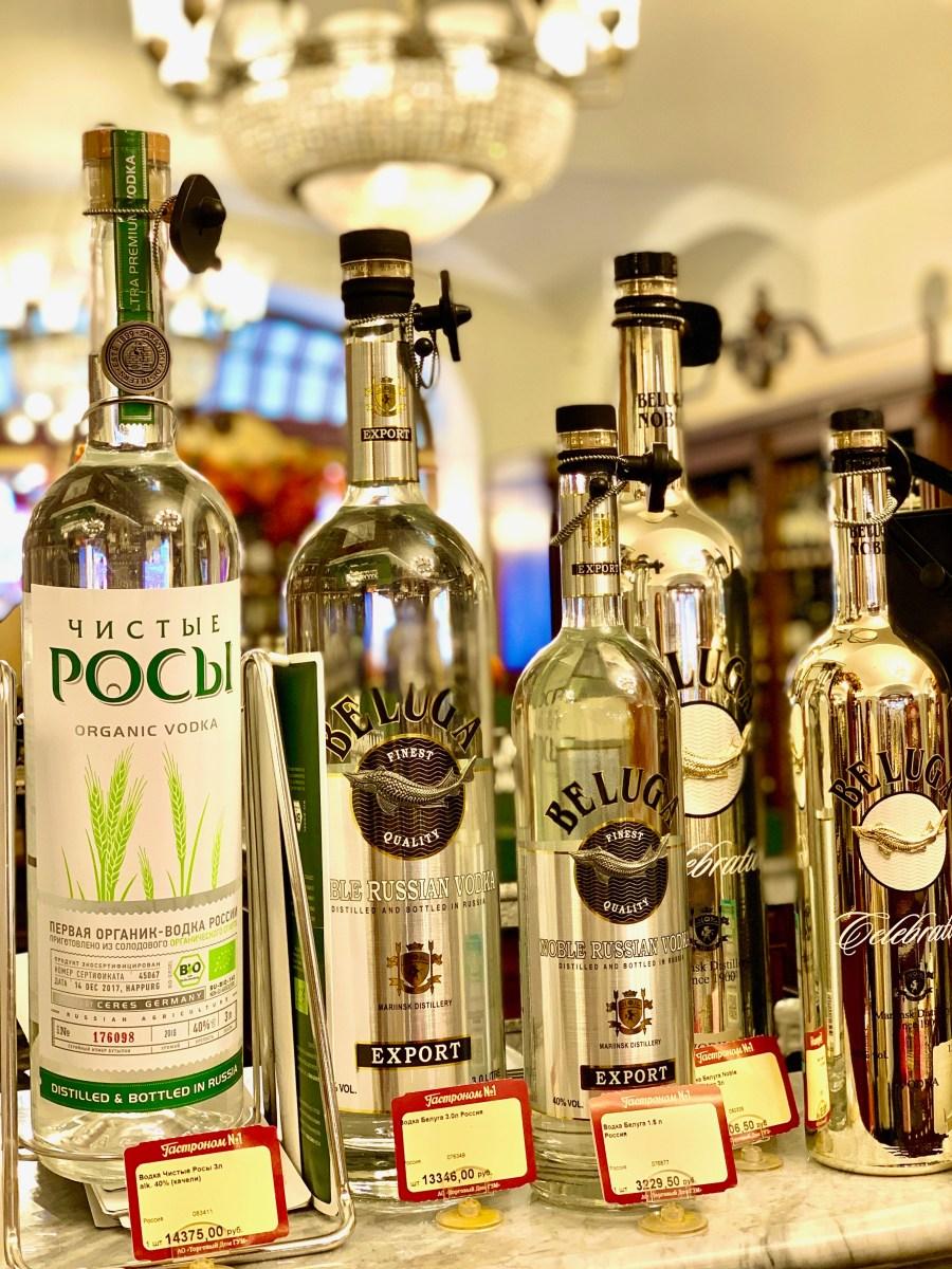 Moskau Kaufhaus GUM Wodka