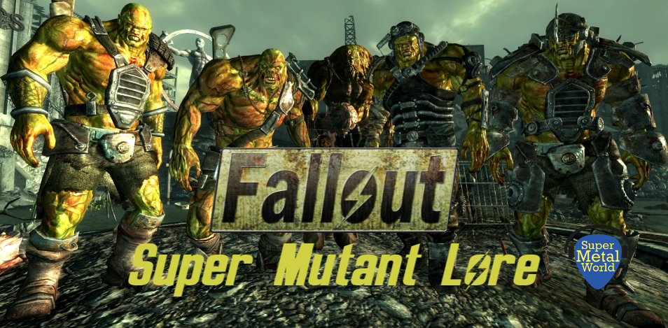 Five super mutants with a human captive