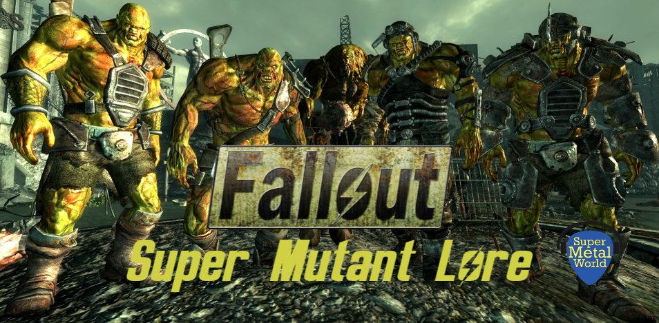 Five super mutants with a human captive