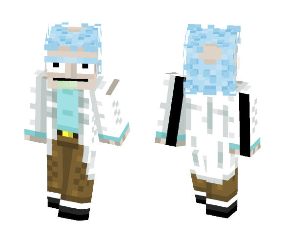 Morty Minecraft And Rick Skin