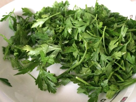You can chop some parsley to put on top.