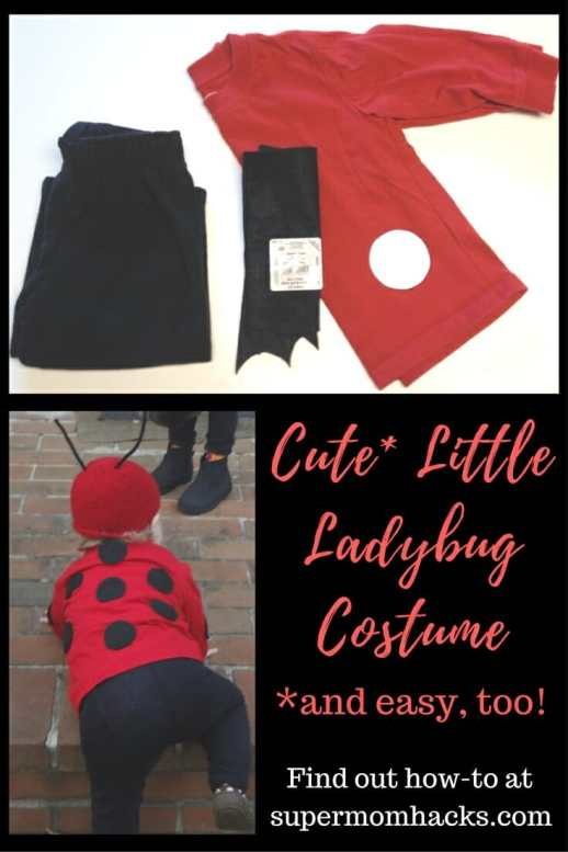 Diy halloween costumes cute little ladybug super mom hacks what is cuter than a little halloween ladybug a little ladybug costume you made yourself solutioingenieria Image collections