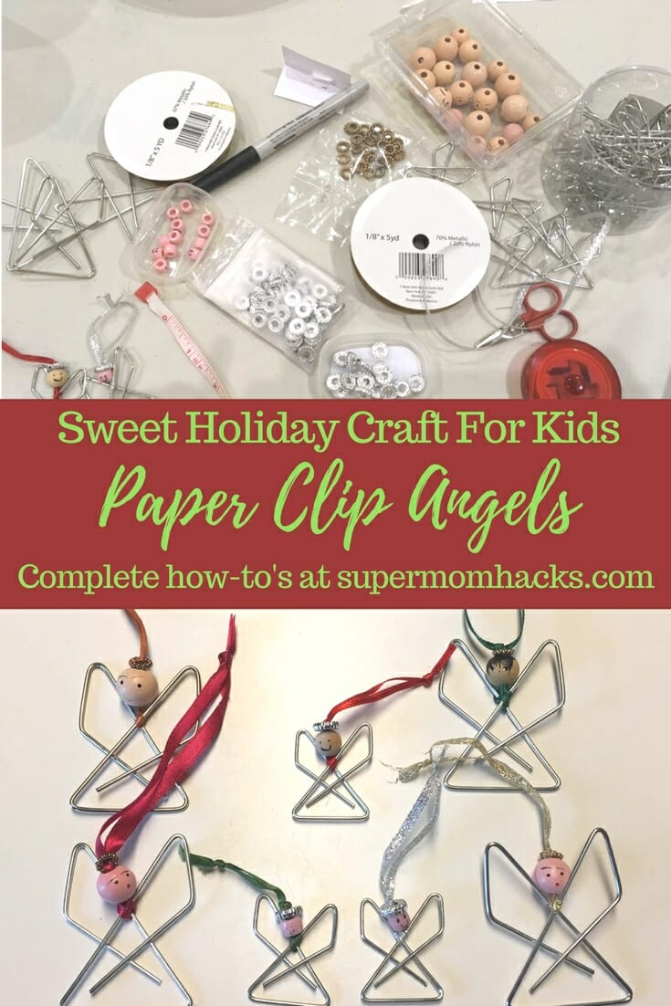 if you're looking for a cute, easy idea for a kid-friendly holiday craft, give paper clip angels a try; they make great gifts for teachers.