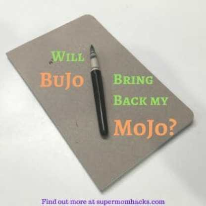 Figuring out how to bring back my mojo (that pre-parenthood illusion of control over my life) would be the ultimate hack in parenting. Is BuJo the key?