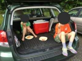 Breakfast tailgate last week before dropping Kimmie off at sleep-away camp