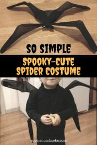 Want an easy DIY Halloween costume you can assemble in 15-30 minutes from  sc 1 st  Super Mom Hacks & So Simple Spooky-Cute Spider Costume - Super Mom Hacks
