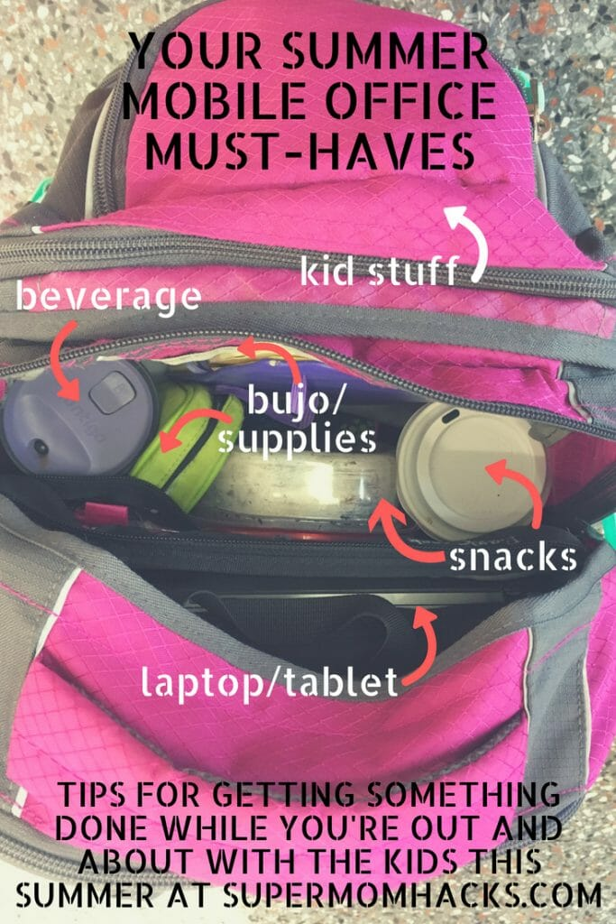 What's a work-at-home mama to do when the kids are out of school? My list of summer mobile office must-haves will help you maintain your productivity during your kids' summer adventures.