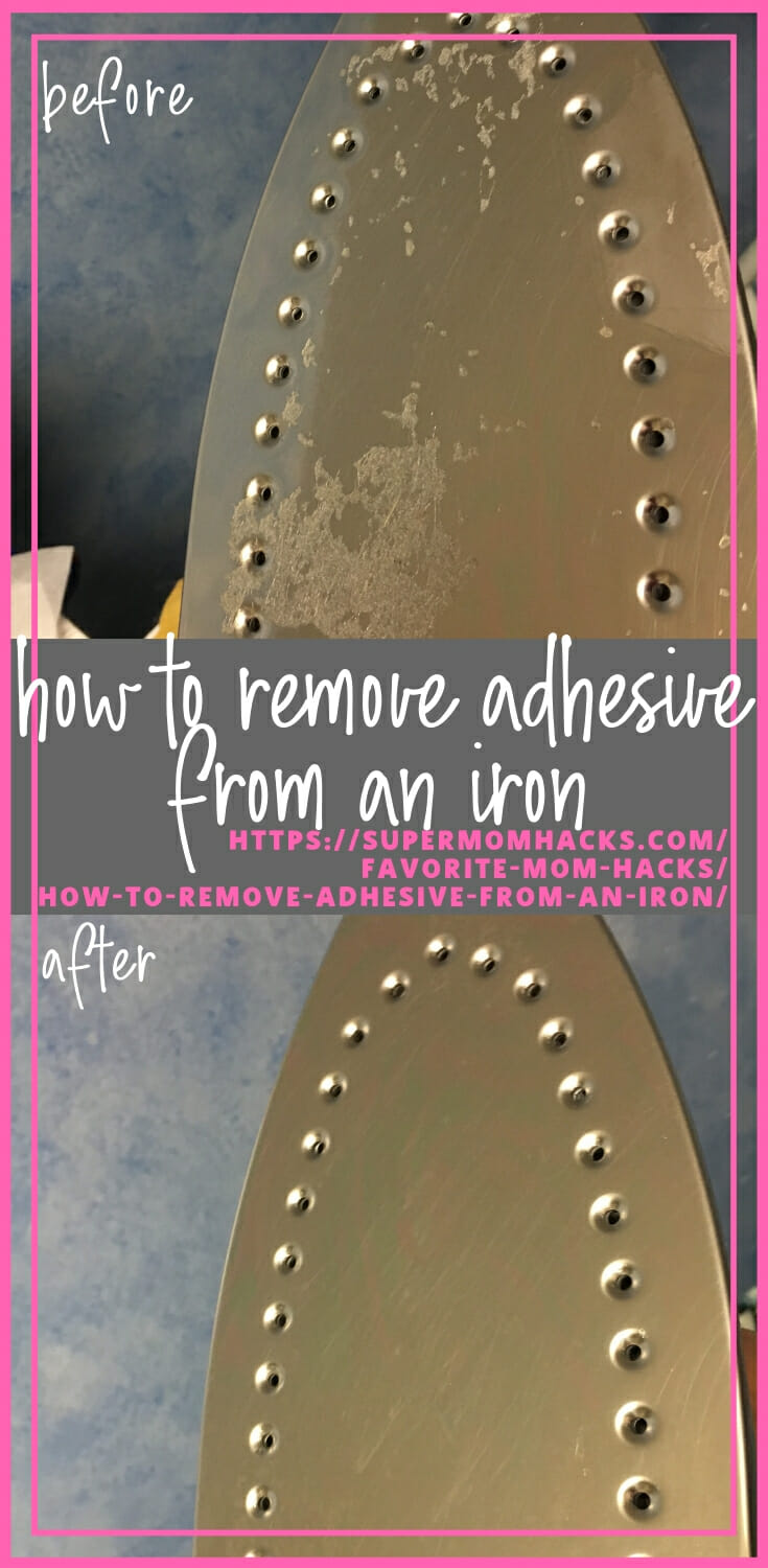 So you goofed in your crafting project, and your iron faceplate is now covered in goo. Here's how to remove adhesive from an iron, without killing the iron!