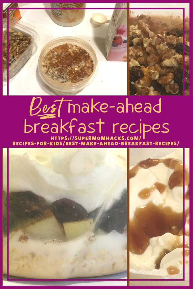 Looking for a healthy, filling, make-ahead breakfast for mornings on the go? These easy, yummy picks are my best make-ahead breakfast recipes for a reason.