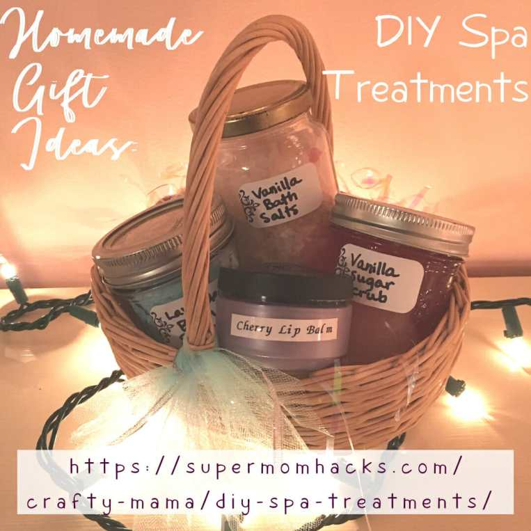 Making a lovely gift basket of DIY spa treatments is an easy project you can do with your kids, and it's sure to be a hit with the lucky recipients!