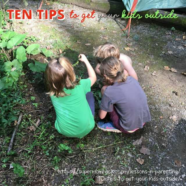 Do you struggle to get your kids outside? Do they prefer video games to fresh air? These 10 tips will help you get your child into the out-of-doors.