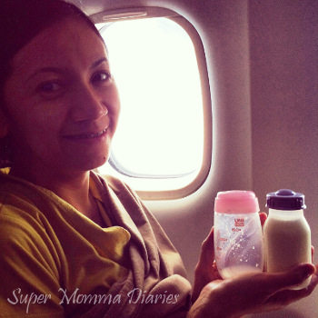 On the plane on our way to Boracay for a conference. ;)