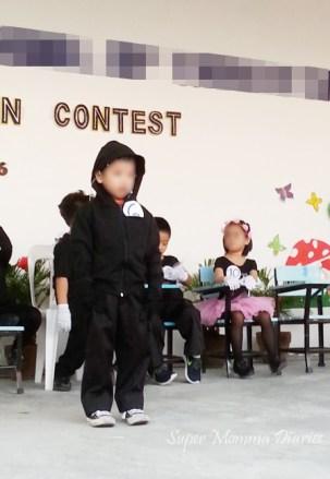 The Big Boy reciting his poem My Shadow. :)