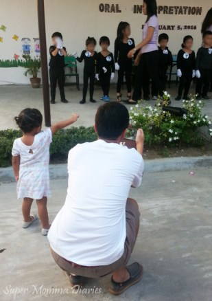 The Little Princess cheering her Kuya. :)