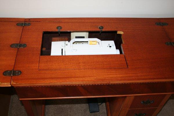 vintage sewing machine cabinet  Super Mom  No Cape