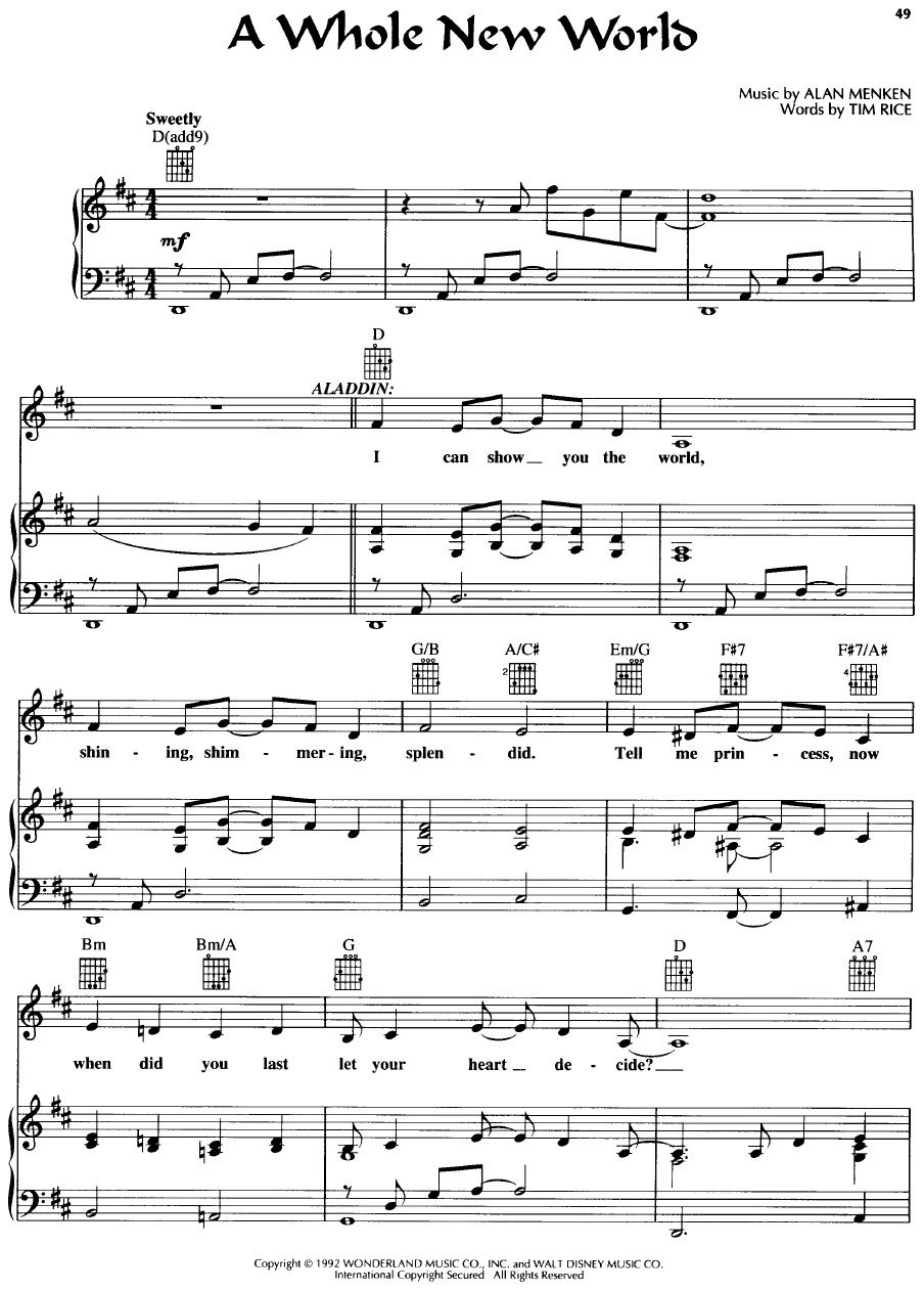 Terjemahan Lagu A Whole New World : terjemahan, whole, world, Download, Whole, World, Aladin, Original, Bersama