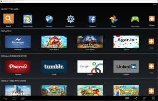 Bluestacks Homescreen