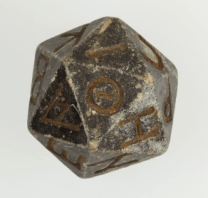Greek d20, 2nd c. B.C. - 4th c. A.D.