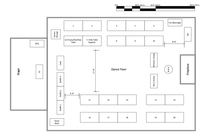 Wedding Table Layout Planner
