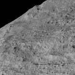 A region near Samhain catena, this was taken during Dawn's lowest orbit – one of the closest views we have of Ceres' surface.