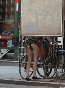 Até mesmo a it girl Alexa Chung é traída por sua roupa que revelou calcinha demais na hora que ela se abaixou.