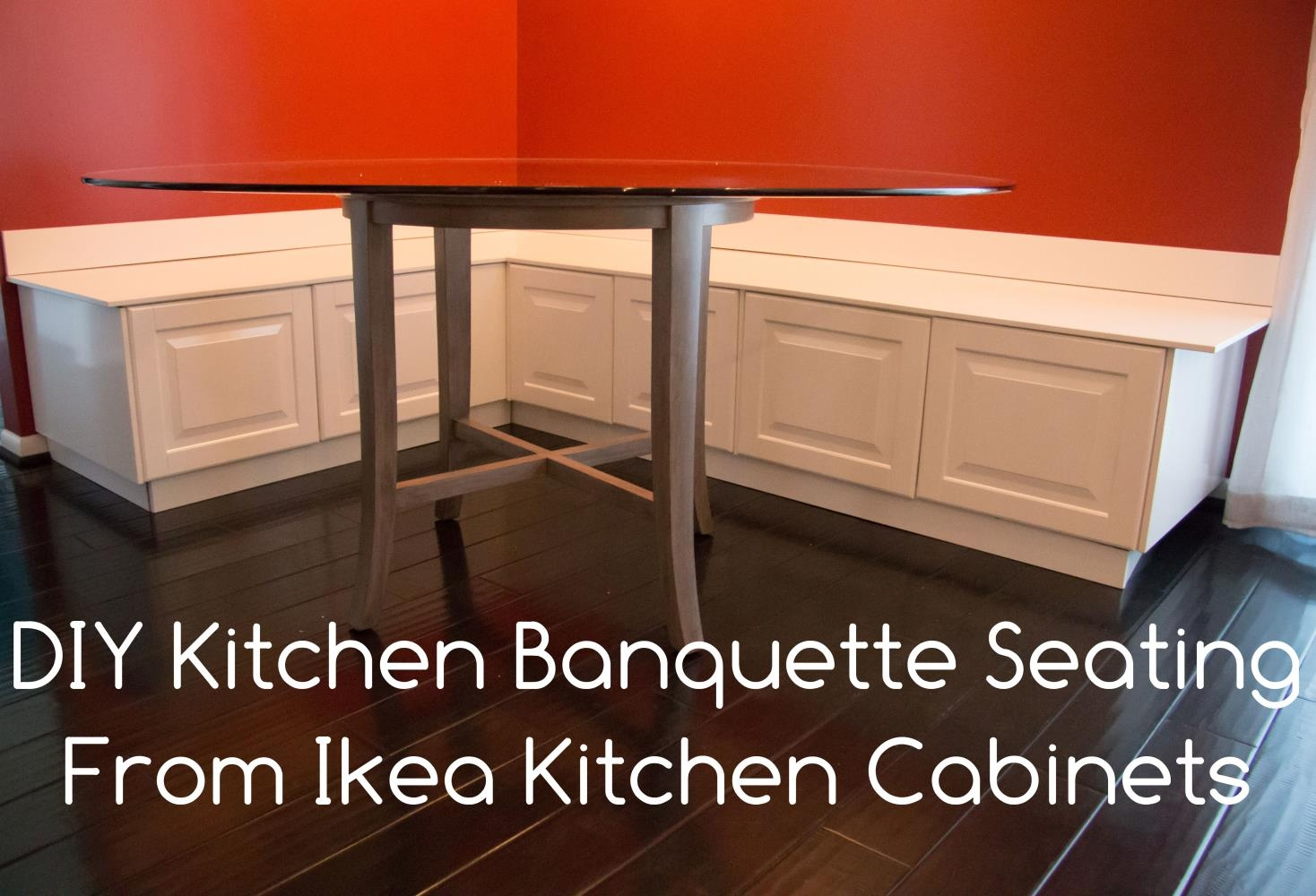 diy kitchen bench with storage lowes cabinet doors banquette using ikea cabinets hacks