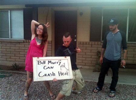 Bill Murray Party Crashing Tour signs