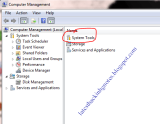 system tools in computer management