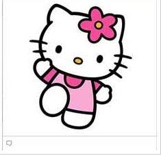 Hello Kitty faceboook emoticon